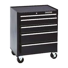 Craftsman 26 In. 32-1/2 In. H X 18 In. D Rolling Tool Cabinet Black ...