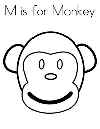 Monkey Face Coloring Page PageFull Size Image
