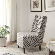 accent chair in grey white