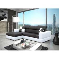 canape d angle noir et blanc meublesline canapé d angle 4 places neto moderne noir et blanc
