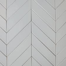2x8 Ceramic Subway Tile by Ceramic Chevron Subway Tile Gray Silver Fox Modwalls Tile