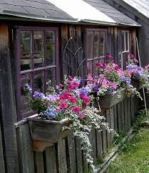Love These Rustic Window Boxes