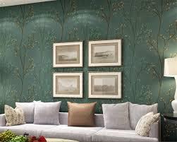 beibehang moderne wandbild grün grau wand papier setzlinge wohnzimmer schlafzimmer tapete tv desktop sofa hintergrund tapete rolle