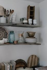 Reclaimed Wood Shelf Diy by A Daily Something Diy Open Kitchen Shelving With Reclaimed Wood