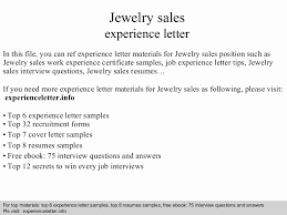 Interview Questions For Sales Associate Sample Resume Jewelry