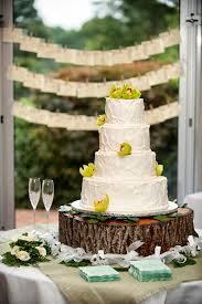 Shabby Chic Wedding Decor Pinterest by Tree Trunk Cake Stand And Shabby Chic Wedding Cake Very Rustic