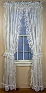 Lush Decor Window Curtains by Ruffled Window Curtains Lush Decor White Inch Ruffled Window