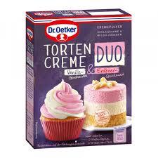 tortencreme duo vanille geschmack erdbeer geschmack