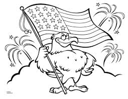 Patriotic Coloring Pages Eagle With American Flag