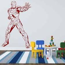 Superhero Bedroom Decor Uk by Iconic Stickers Iron Man 3 Marvel Fiction Superhero Wall Sticker