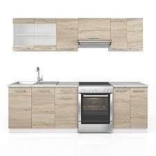 vicco küche raul küchenzeile küchenblock einbauküche 240 cm sonoma kombinerbare einheiten
