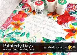 Painterly Days Watercolor Coloring Book