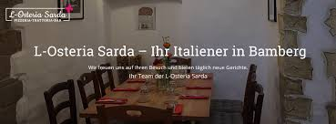 l osteria sarda bamberg speisekarte preise restaurant