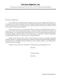 New Graduate Rn Cover Letter Samples Grad Nursing Resume