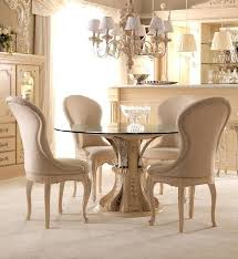 Round Glass Top Dining Table Set Elegant Opulent Interiors In 0