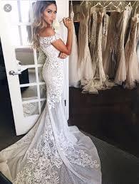 off shoulder vintage lace mermaid wedding dresses fresh mesh