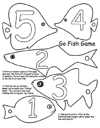 Go Fish Game Coloring Page Pages For Kids