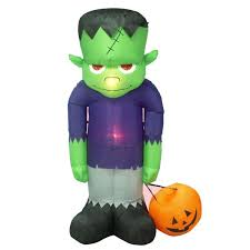Inflatable Halloween Cat Archway by The Holiday Aisle Halloween Inflatable Frankenstein Decoration