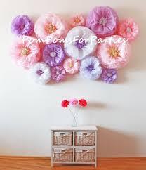 Flower Backdrop Wall Oversized Paper Flowers 20 Units Wedding Centerpiece Rustic Boho Decor Breathtaking Blooms Blush Lavender