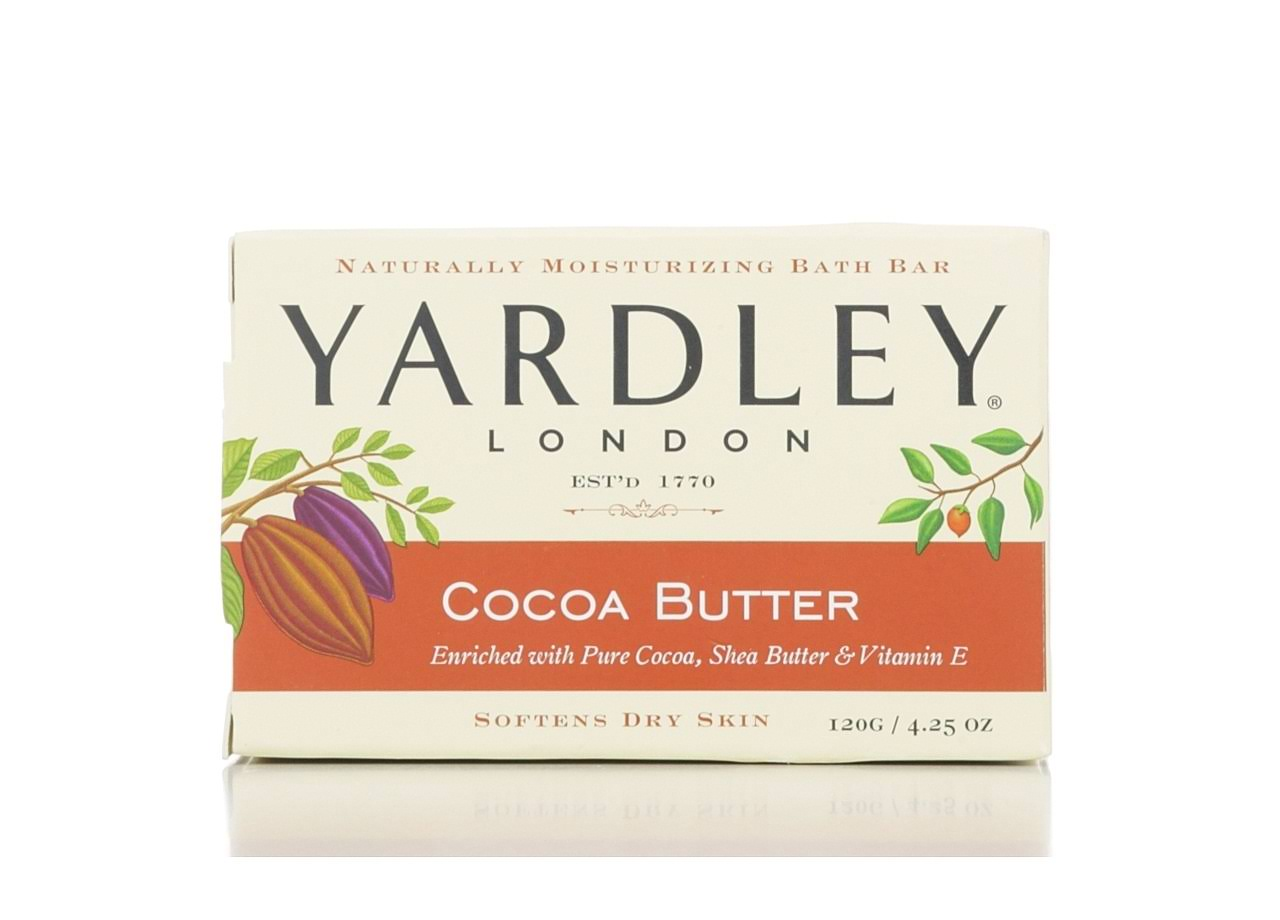 Yardley Naturally Moisturising Bath Bar - Fresh Aloe & Cucumber Essence, 120g