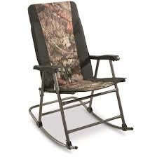 Reclining Camping Chairs Ebay by Guide Gear Oversized Camo Folding Rocking Chair Big Guy Camping