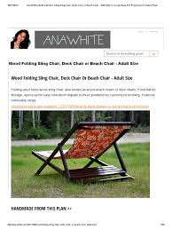 Ana White _ Build A Wood Folding Sling Chair, Deck Chair Or ... Weatherly Folding 6position Teak Deck Armchair Havana Bronze Adjustable Foldable Chair 5position Aqua Metal Beach Charles Bentley Fsc Eucalyptus Wooden Orange Retail Sales Direct Britannia 8position Steamer Lounge Oiled Finish Graydon Recling With Cushion Amazoncom Chair Outdoor Portable Transabed Cushions Canvas Deck Alinum Heavy Duty Widen Aosom Outsunny Sling Fabric Patio Chaise 5 Position Cream White Rakutencom Harbour Housewares Blue Stripe