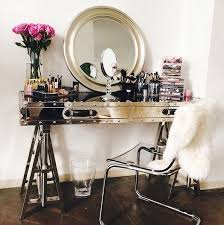 Fluffy White Sheep In This Bling Combination Of A Chrome Vanity And Perspex Chair Via The Decorista