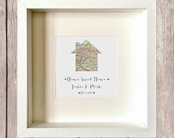 Home Sweet Our First New Personalised Art Gift