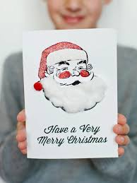 Kids Craft Santa Holiday Card