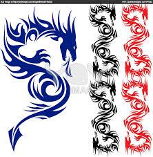 Tribal Chinese Dragon Tattoo Designs