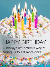 Eat More Cake Happy Birthday Wish Card