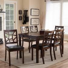 Baxton Studio Mozaika Dining Table Chair 7 Piece Set