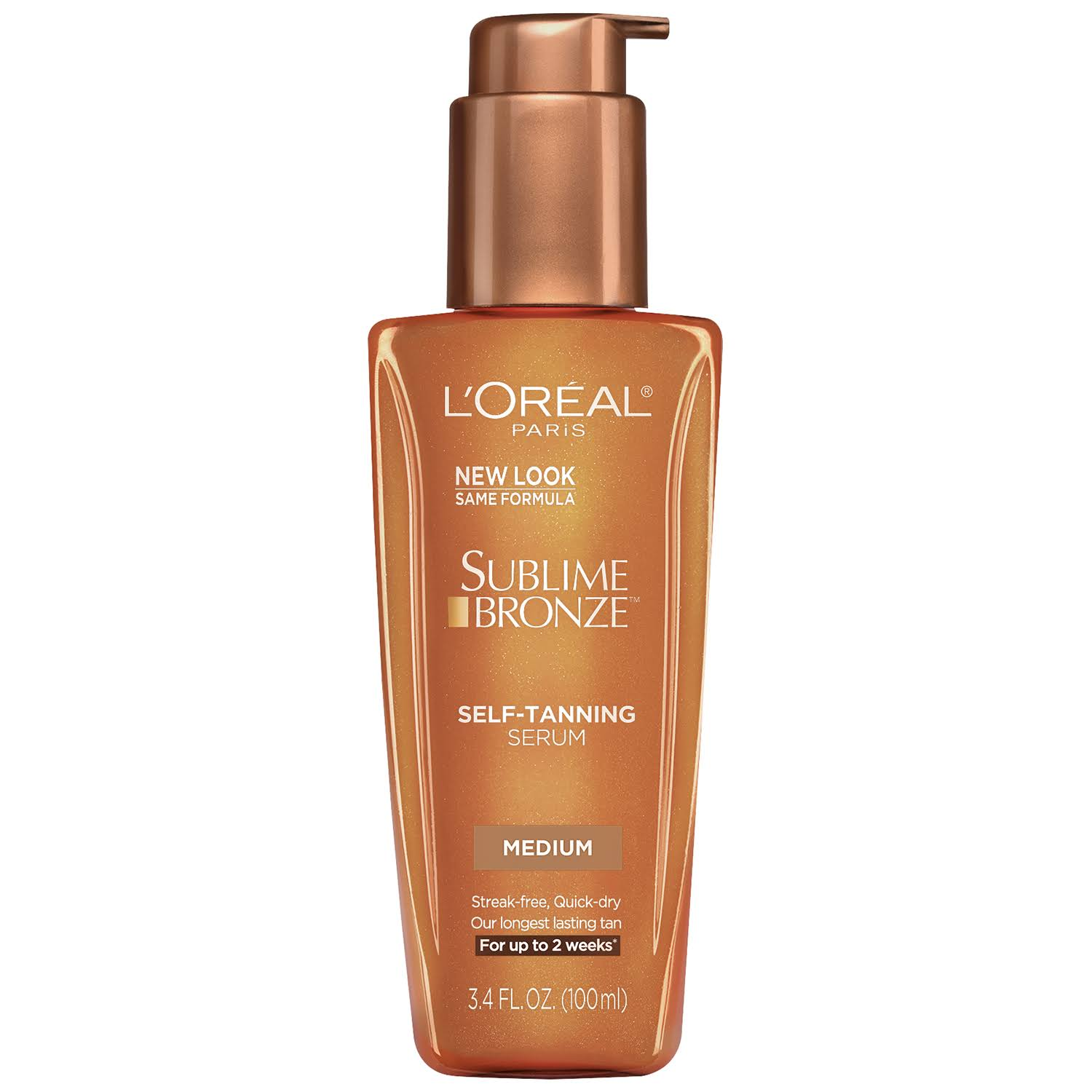 L Oréal Sublime Bronze Self Tanning Serum - Medium Natural Tan, 3.4oz