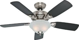 Brushed Nickel Ceiling Fan by Awesome Brushed Nickel Ceiling Fan With Light And Hunter 52081