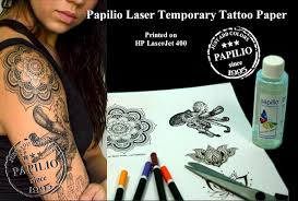 Laser Printer Temporary Tattoo Paper And Adhesive