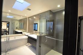 contemporary 3 4 bathroom with european cabinets simple marble