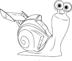 Coloriage Escargot Turbo A Imprimer Apanageetcom