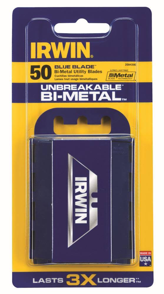 Irwin Tools Blue Blade Utility Blades - 50 Pieces