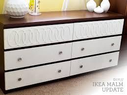 Ikea Kullen Dresser Hack by Diy Ikea Malm Mid Century Modern Dresser Malm Ikea Hack And Dresser