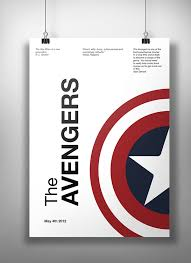 A Movie Poster Using The Swiss Design Style And Strictly Simple Images Helvetica Font I Chose Avengers Decided To Do Serie