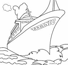 Titanic Coloring Pages Print