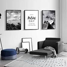 schwarz weiß strand wandkunst leinwand poster drucke nordic