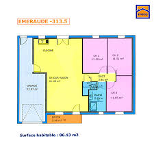 plan maison plain pied 3 chambres en l plan de maison individuelle plain pied