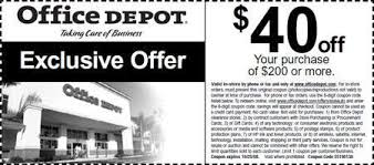 Canadian Coupons fice Depot Canada $40 off $200
