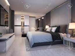 100 Modern Luxury Design 3d Rendering Bedroom Suite At Night With Cozy