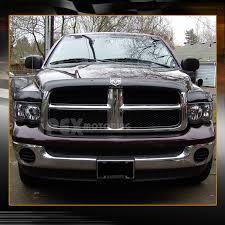 new 2002 2005 dodge ram 1500 2500 3500 black headlights