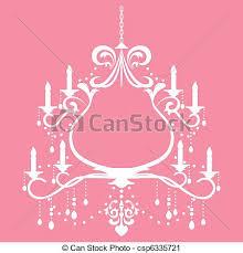 Chandelier Frame Illustration Vector Clip Art