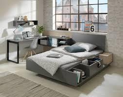 graues bett im modernen apartment zimmer wallachmoebelhaus