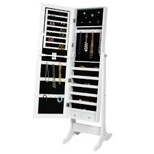 Best Choice Products Mirrored Jewelry Armoire With Stand - White ... Amazoncom Linon Home Decor Deanna Jewelry Armoire Kitchen 25 Beautiful Black Armoires Zen Mchandiser Fniture Mirrored Build In The Wall Over The Minimalist Bedroom With Full Length Mirror Design Chest White Under 100 Organizedlife Cabinet Therapy Armoirefr6364 Depot Landry Antiqued Lacquer Hives And Honey Deluxe Walmart Soappculturecom Charming Cheval Ideas Decators Collection Armoire565210