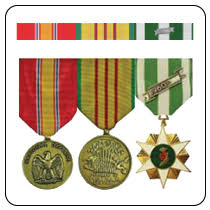 Military Ribbons and Military Medals Rack Builder select your